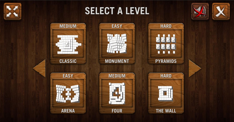 Mahjong Deluxe Select a Level Screenshot.