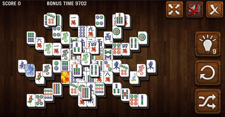Mahjong Deluxe Game Spider Level Screenshot.
