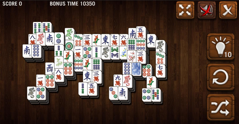 Mahjong Deluxe Game Tiger Level Screenshot.
