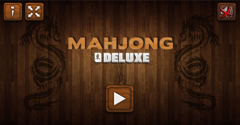 Mahjong Deluxe Game Welcome Screen Screenshot.