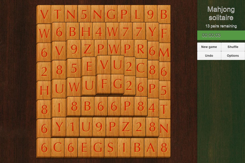 Mahjong Solitaire Pyramid Game Screenshot.