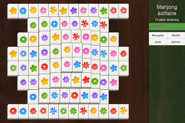 Mahjong Solitaire Classic Turtle Game Screenshot.