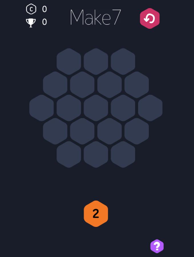 Make-7 Game Welcome Screenshot.