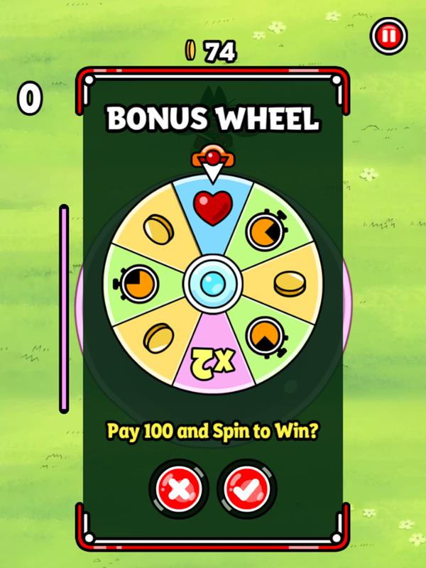 Mao Mao Jelly of the Beast Game Bonus Wheel Screenshot.