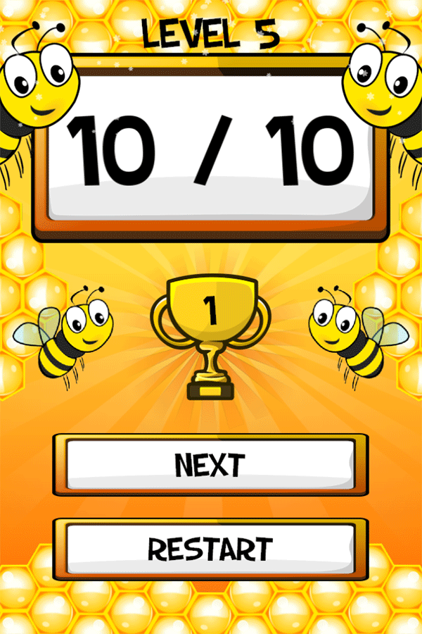 Math Bee Level Complete Screenshots.