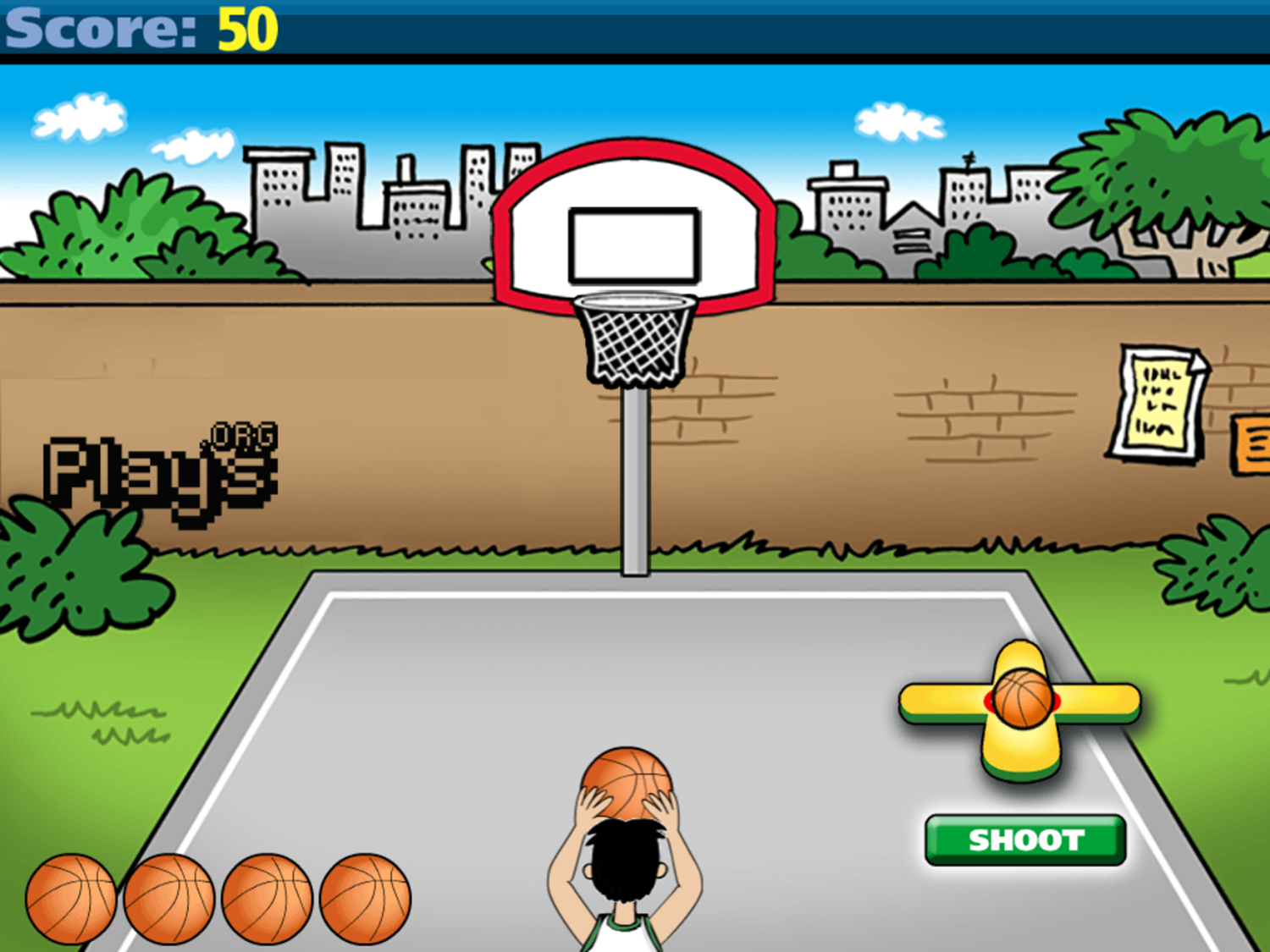 Math Facts Shoot Out Game Basketball Round Play Screenshot.