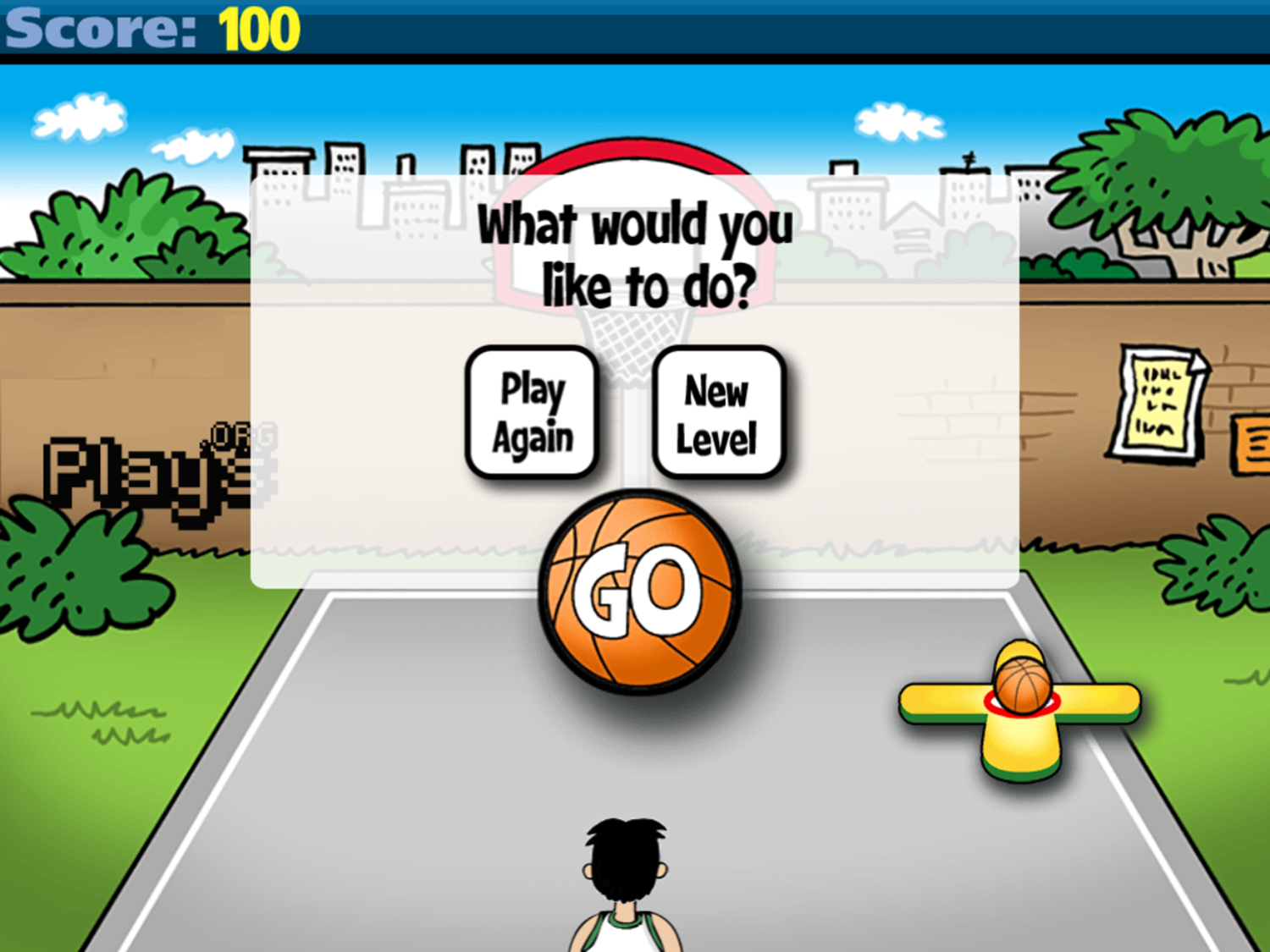 Math Facts Shoot Out Game Over Screenshot.