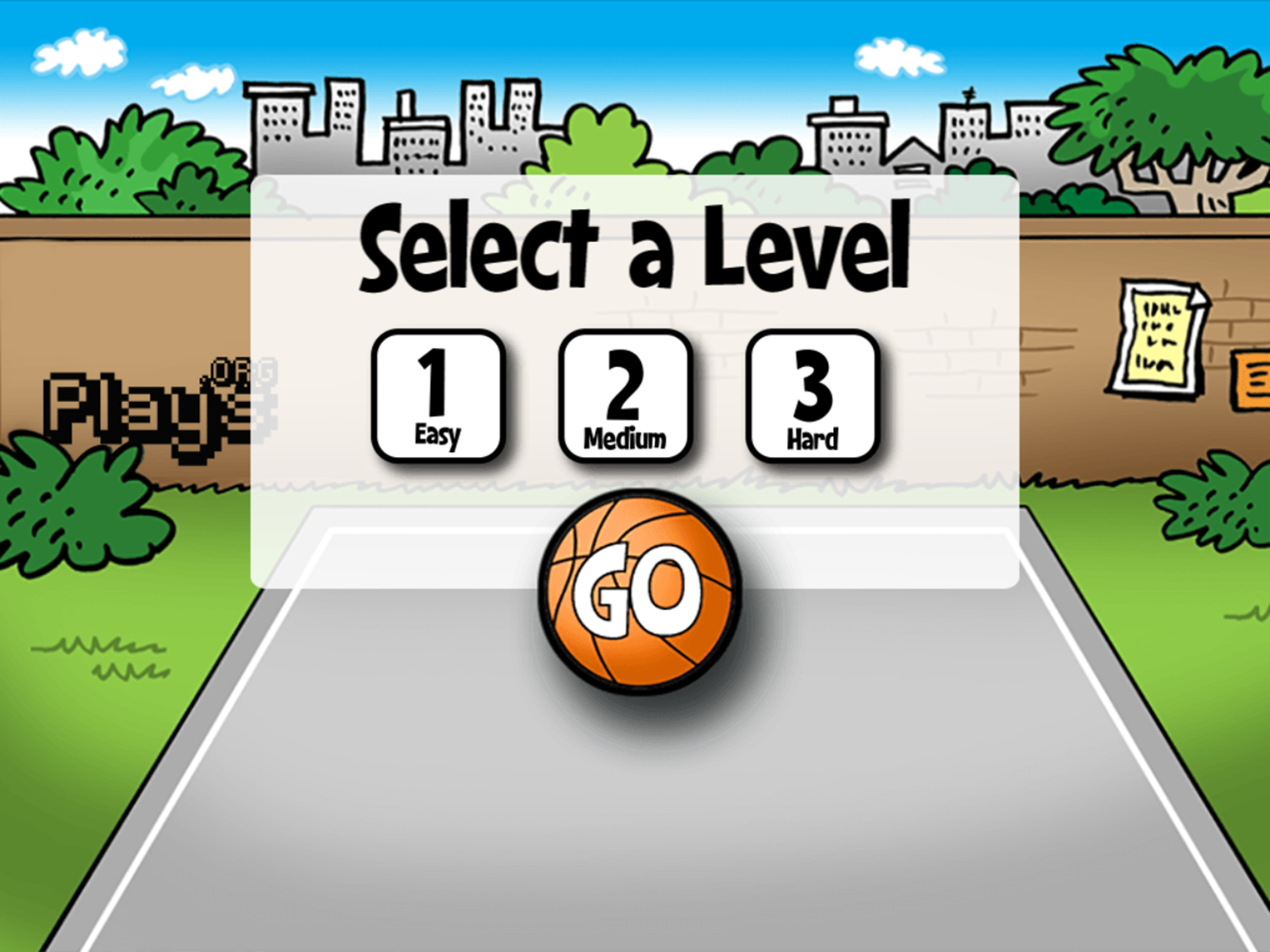 Math Facts Shoot Out Game Select Level Screenshot.
