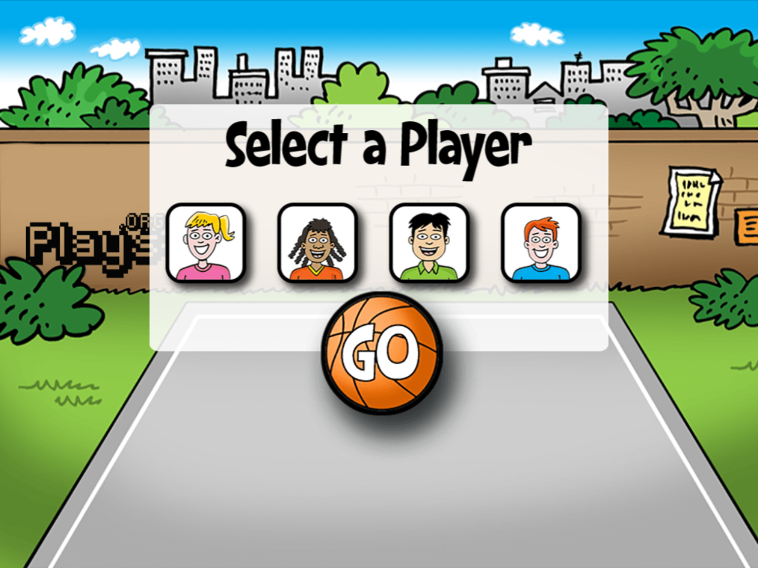 Math Facts Shoot Out Game Select Player Screenshot.