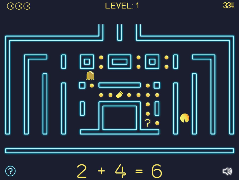 Math Man Game Play Screenshot.