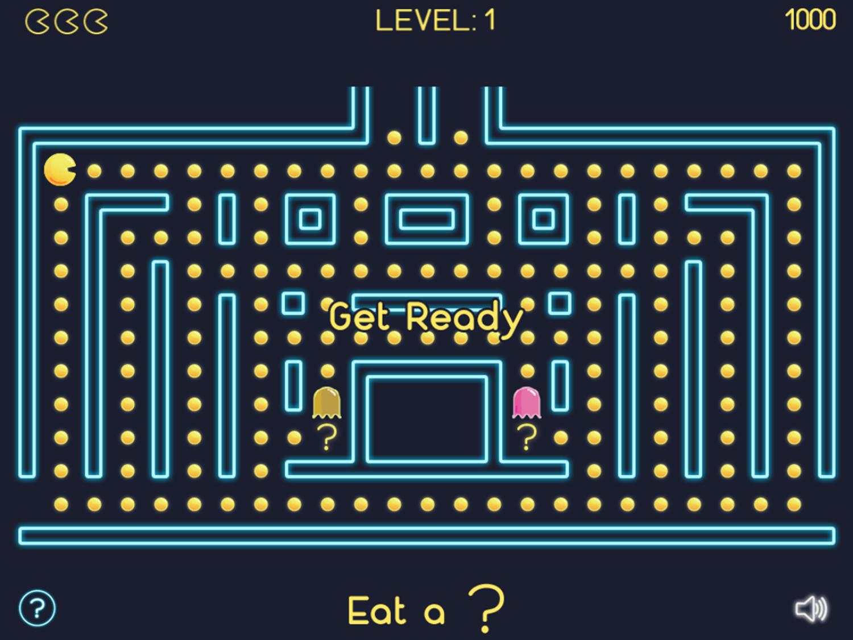 Math Man Game Start Screenshot.