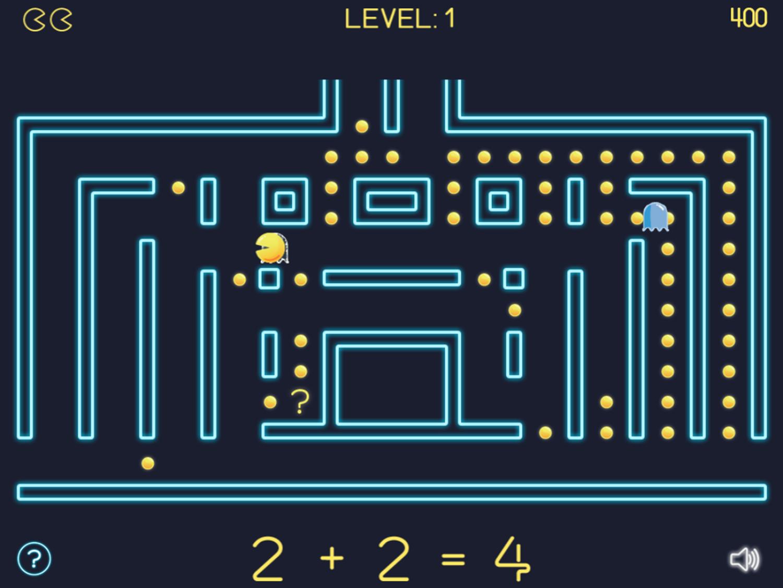 Math Man Jr Game Play Screenshot.