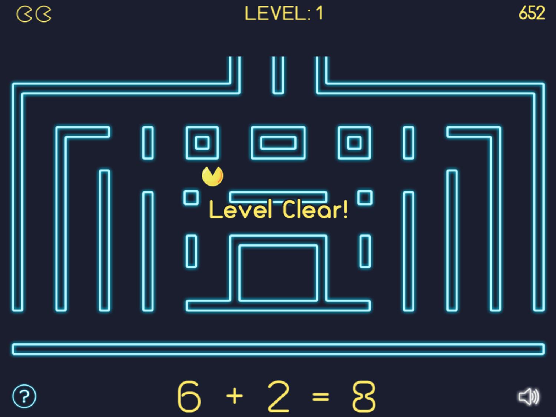 Math Man Jr Game Level Clear Screenshot.