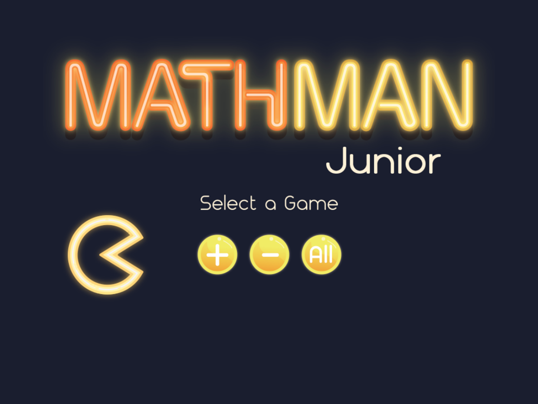 Math Man Jr Game Select Game Screenshot.