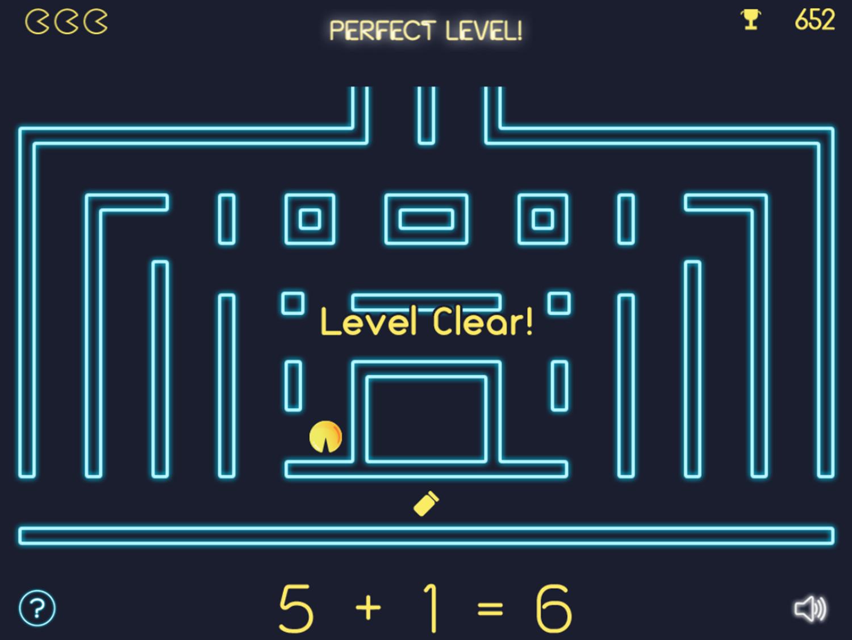 Math Man Game Level Clear Screenshot.