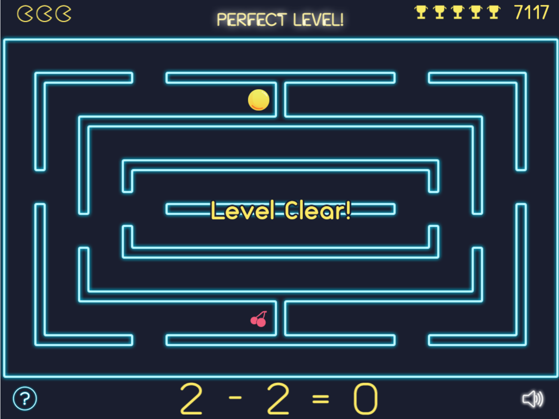 Math Man Perfect Level Screenshot.