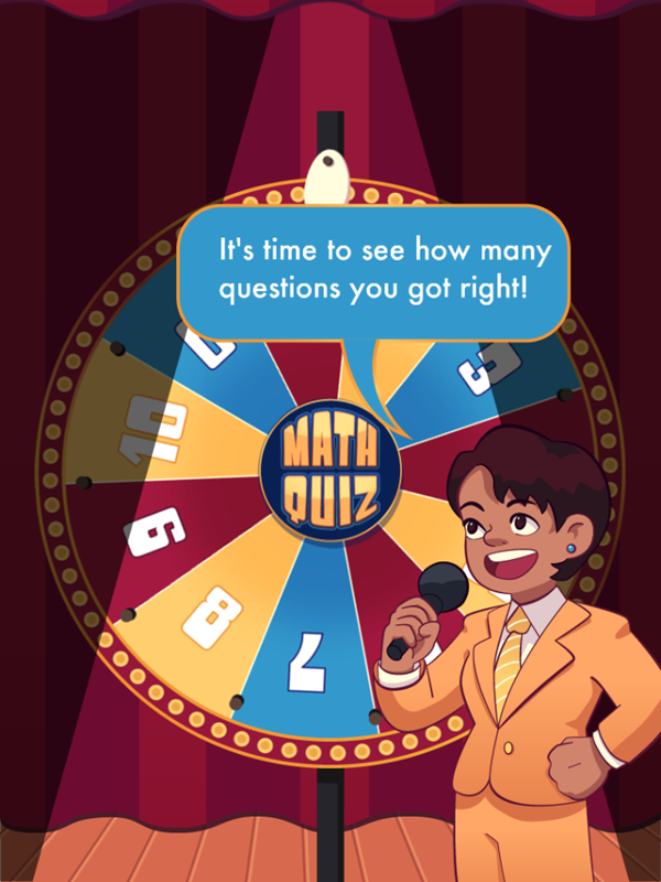 Math Quiz Game Answer Reveal Screenshot.