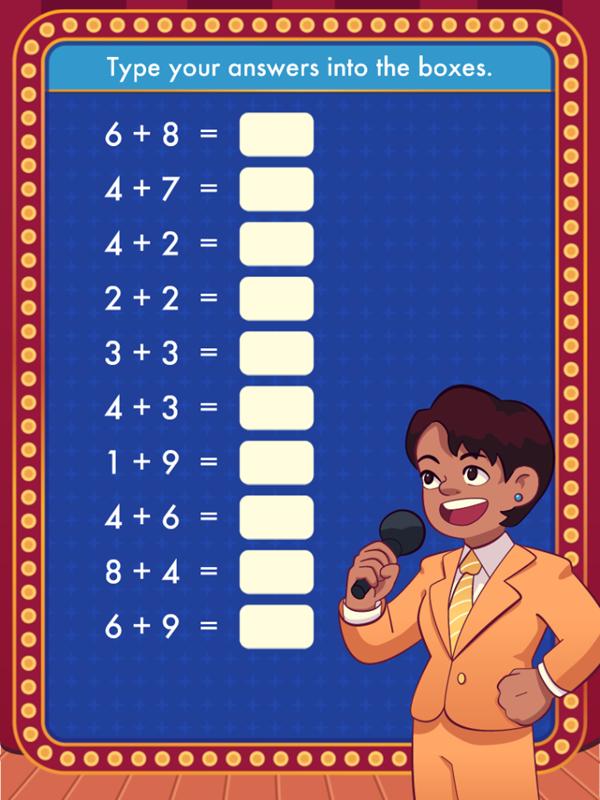 Math Quiz Game Start Screenshot.
