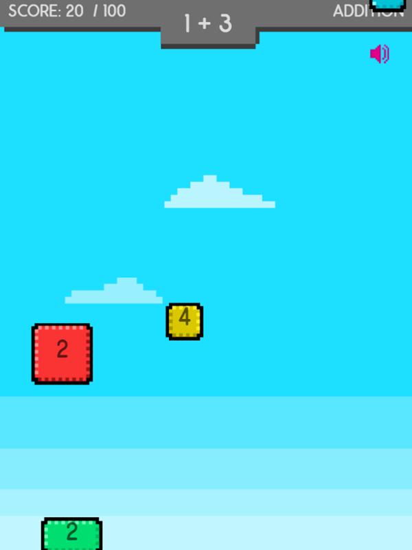Math Stack Game Play Screenshot.