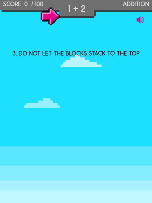 Math Stack Game Play Tips Screenshot.