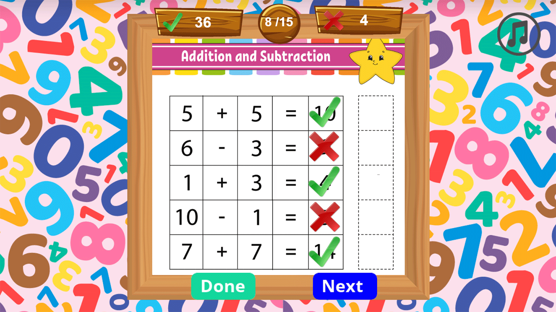Math Time Game Screenshots.