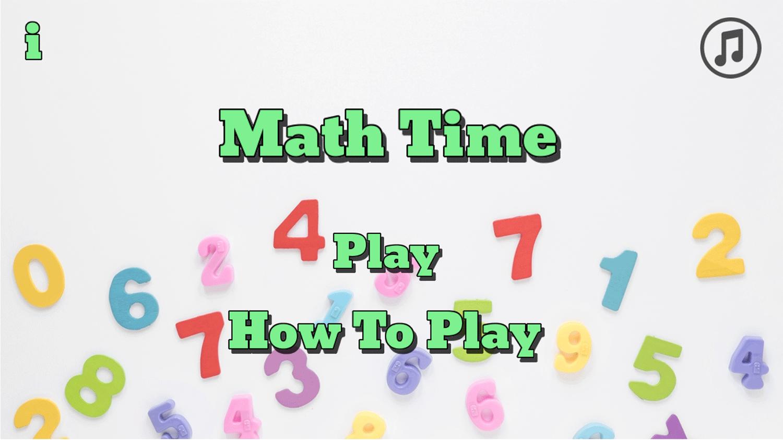 Math Time Welcome Screen Screenshots.