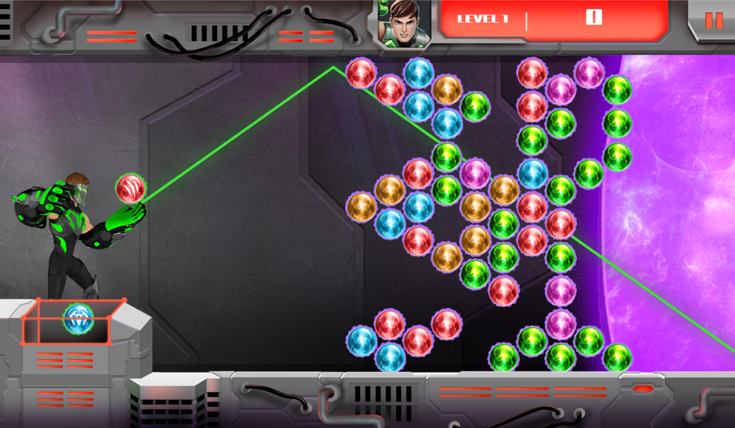 Max Steel Match and Destroy Game Screenshot.