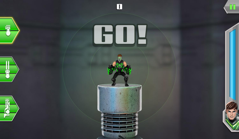 Max Steel Turbo 360 Game Start Screenshot.