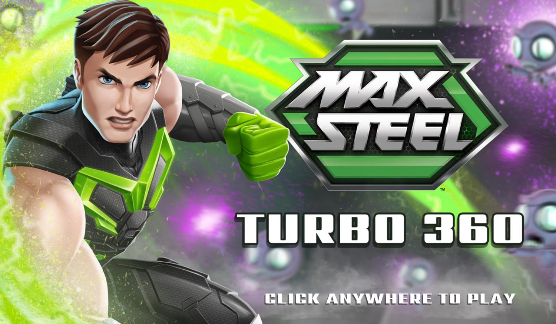 Max Steel Turbo 360 Game Welcome Screen Screenshot.