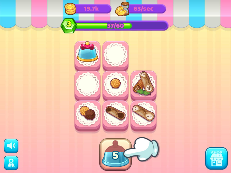 Merge Cakes Game Play Screenshot.