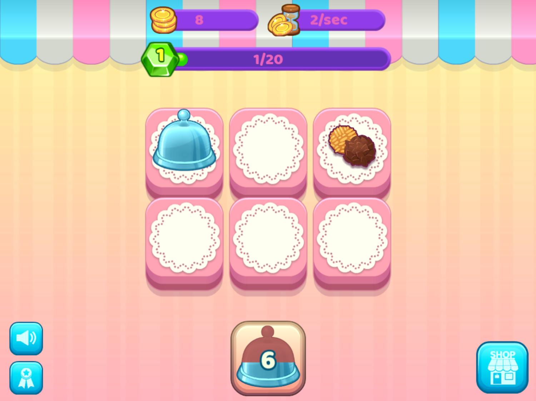 Merge Cakes Game Start Screenshot.