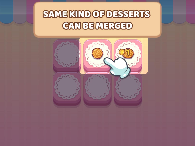 Merge Cakes Game Instructions Screenshot.