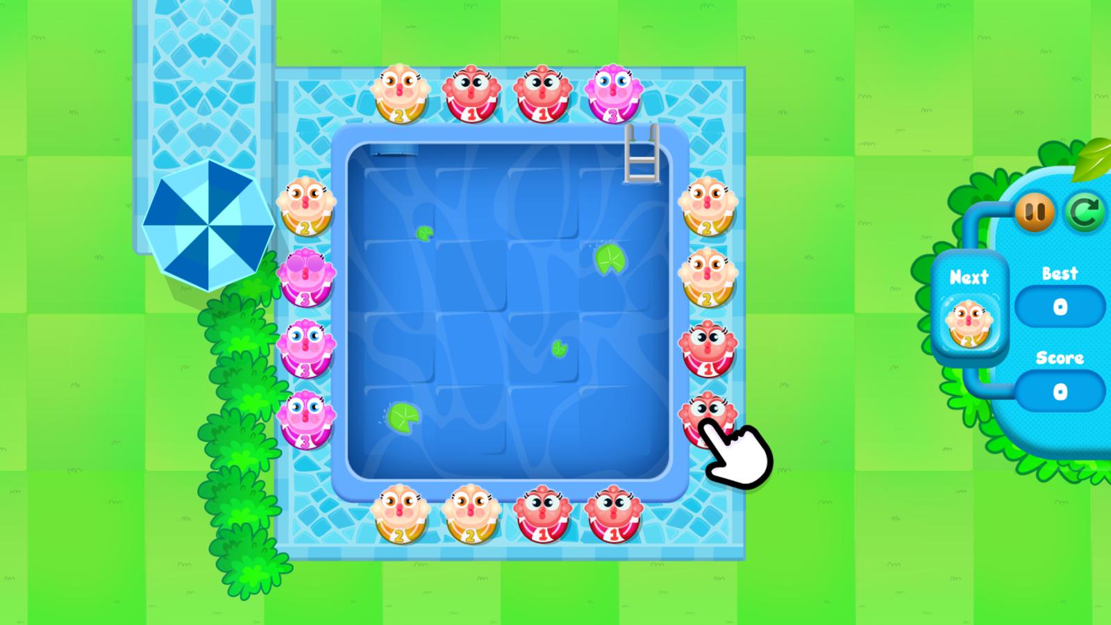 Merge Fish Game Welcome Screenshot.