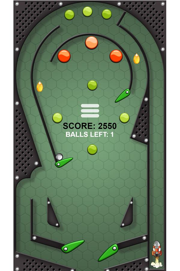 Meta Pinball Game Screenshot.