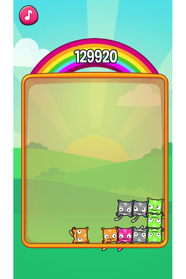 Mewtrix Game Combo Screenshot.