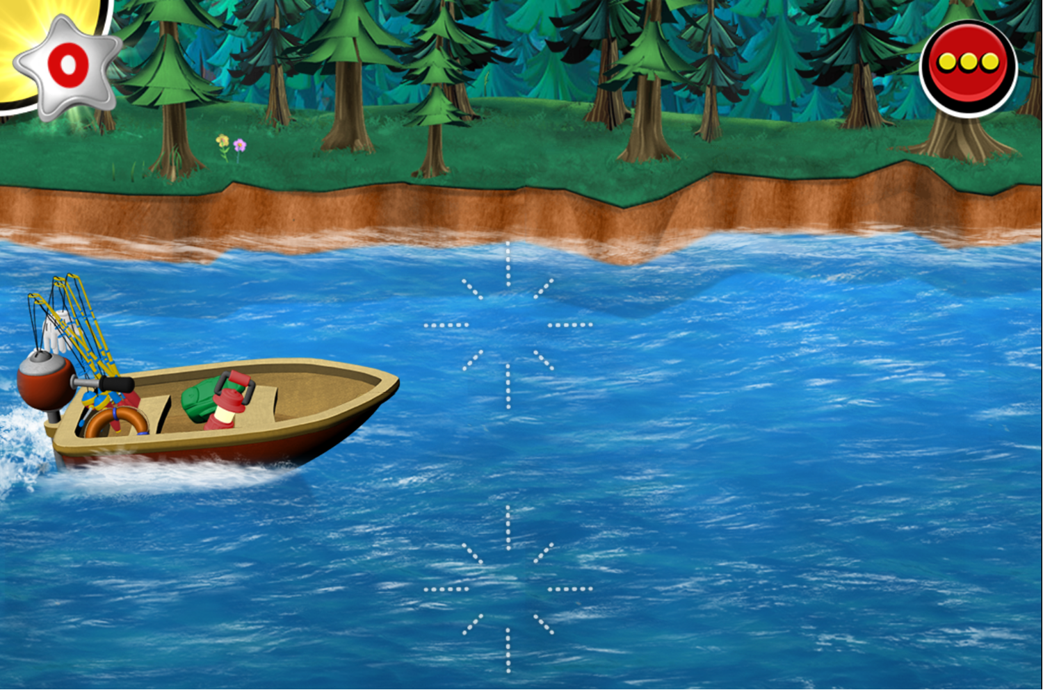 Mickey and Minnie's Universe Boating Screenshot.