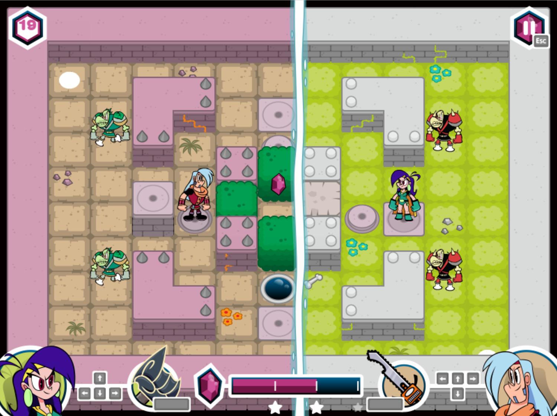 Mighty MagiSwords Double Trouble in Mirror Castle Game Retractable Block Screenshot.
