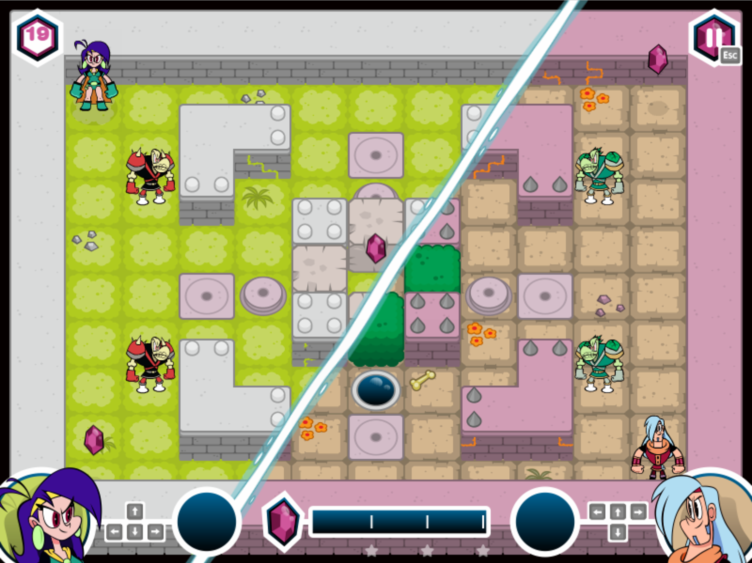 Mighty MagiSwords Double Trouble in Mirror Castle Game Off Centered Exit Screenshot.