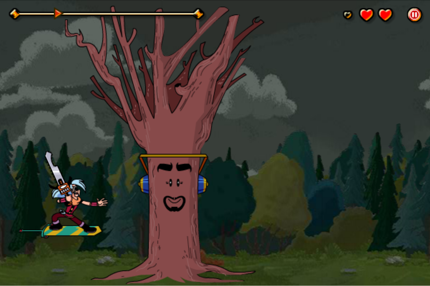 Mighty MagiSwords Hoversword Hustle Game Chainsaw Magisword Gameplay Screenshot.