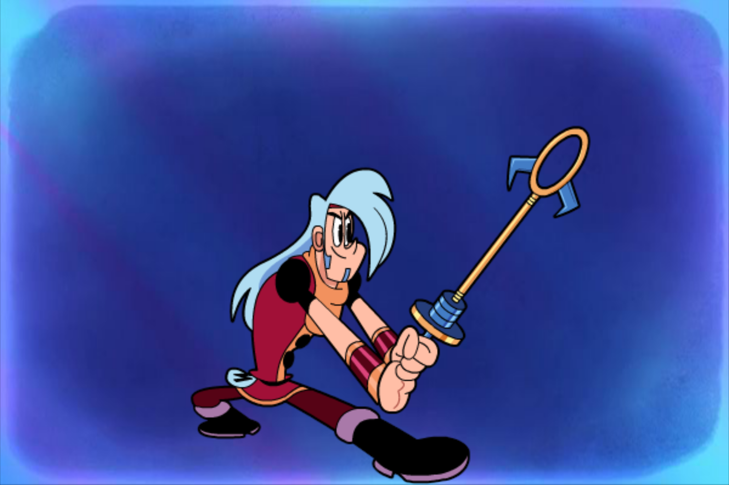 Mighty MagiSwords Hoversword Hustle Game Exploding Bubble Magisword Intro Screenshot.