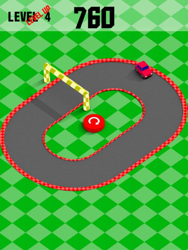 Mini Drifts Game Game Over Screenshot.