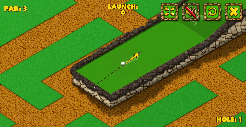 Minigolf World Game Screenshot.