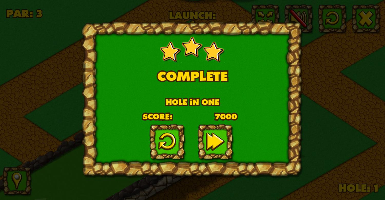 Minigolf World Hole in One Screenshot.