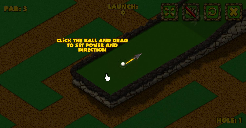 Minigolf World Instructions Screenshot.
