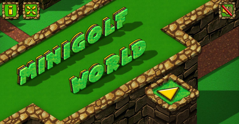 Minigolf World Game Welcome Screenshot.