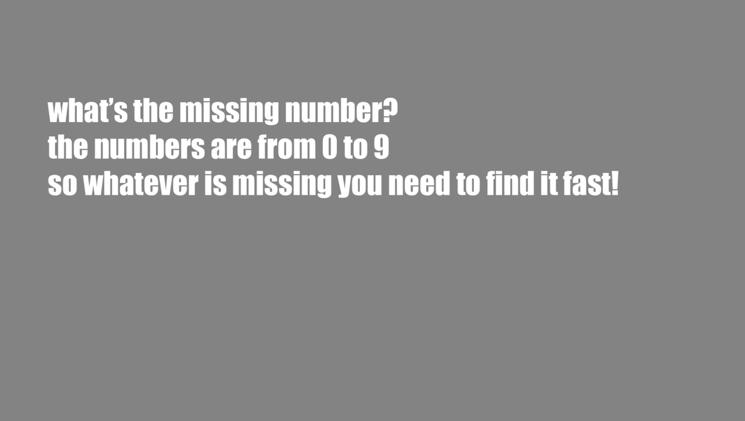 Missing Number Game How To Play Screenshot.