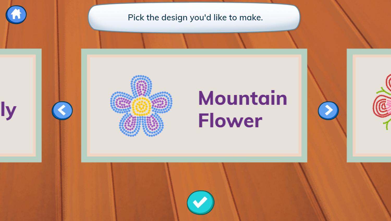 Molly of Denali Beading Art Game Premade Designs Sample Screenshot.