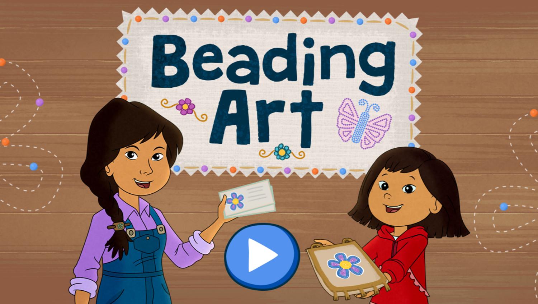 Molly of Denali Beading Art Game Welcome Screen Screenshot.