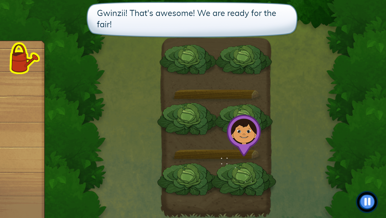Molly of Denali Veggiezilla Game Play Screenshot.