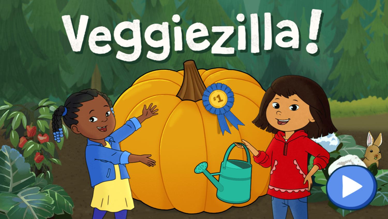 Molly of Denali Veggiezilla Game Welcome Screen Screenshot.